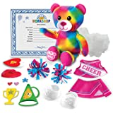 Build a Bear 20074842 Build-A-Bear Workshop - Furry Fashions - Cheer Bear Stuff Your Furry Friend, Multi
