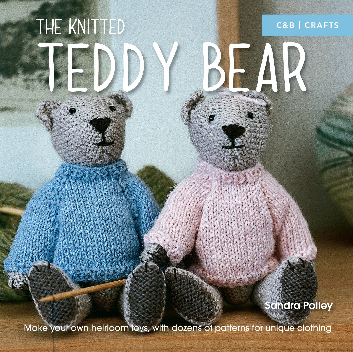 Blue knitted Teddy Bear Custom teddy bear Knitted Toys Home decor Nursery Gift for kids Photo props for kids Will be made JUST FOR YOU