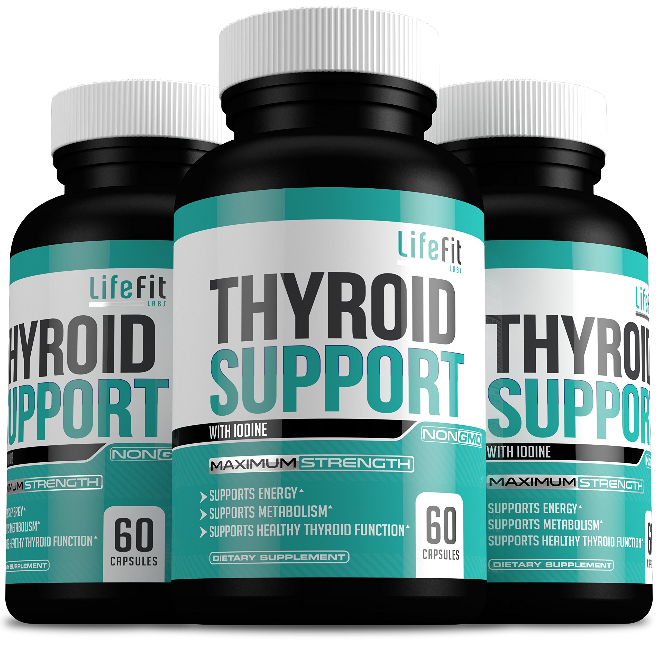 Thyroid Support Complex With Iodine: Improve Your Overall Health Level | Helps Increase Concentration & Weight Loss | Boosts Healthy Metabolism & Mental Clarity | Natural Health Supplement