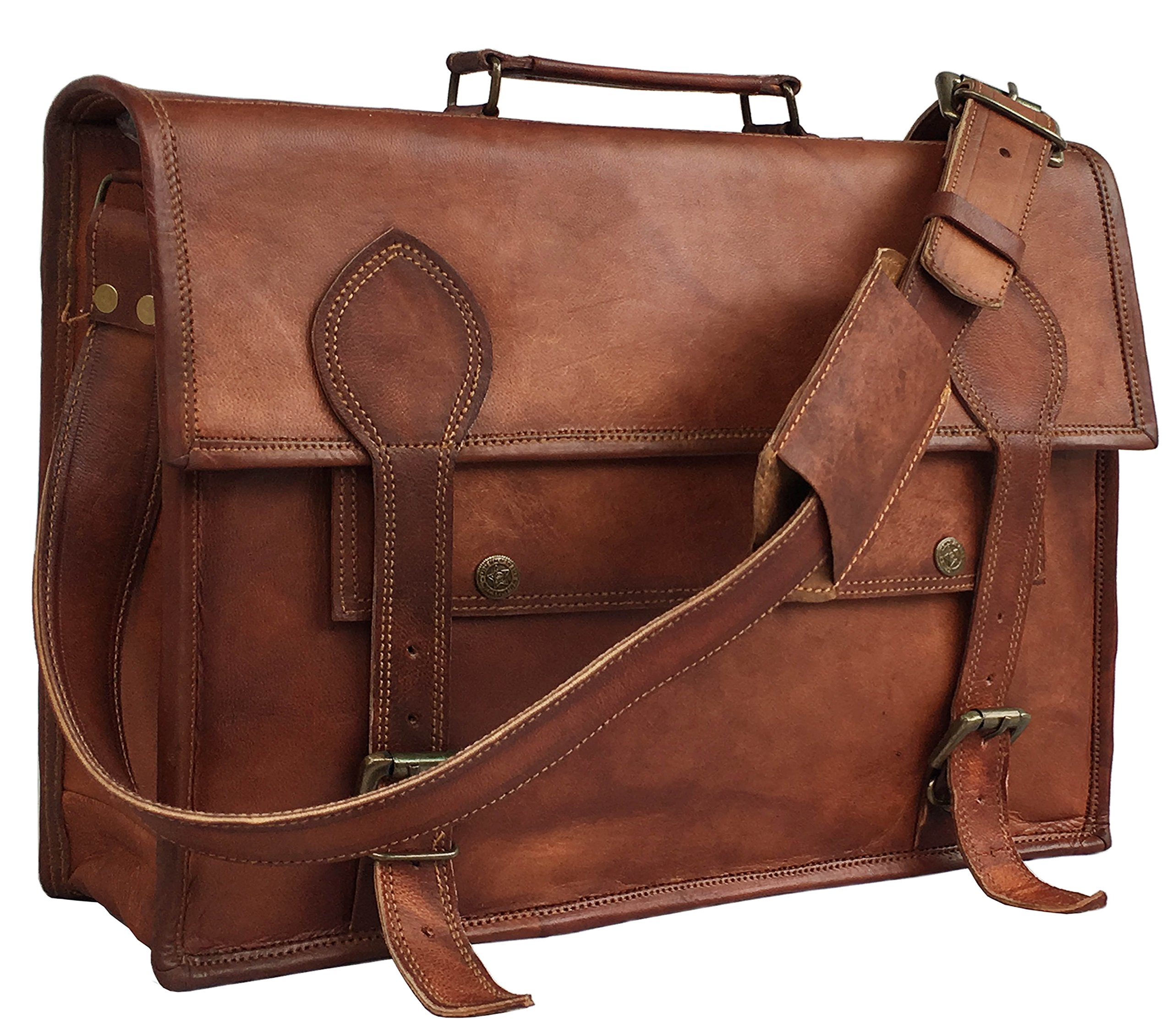 Galleon - 16 Inch Vintage Handmade Leather Messenger Bag For Laptop  Briefcase Best Computer Satchel School Distressed Bag ff5189e06ce8b