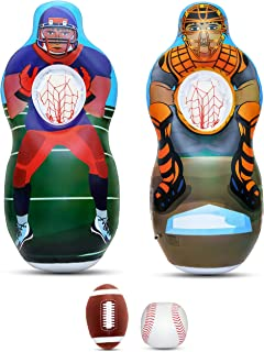 Inflatable Two Sided Football   Baseball Target Set - Includes One  Inflatable 5 Foot Tall Target bece56e6a