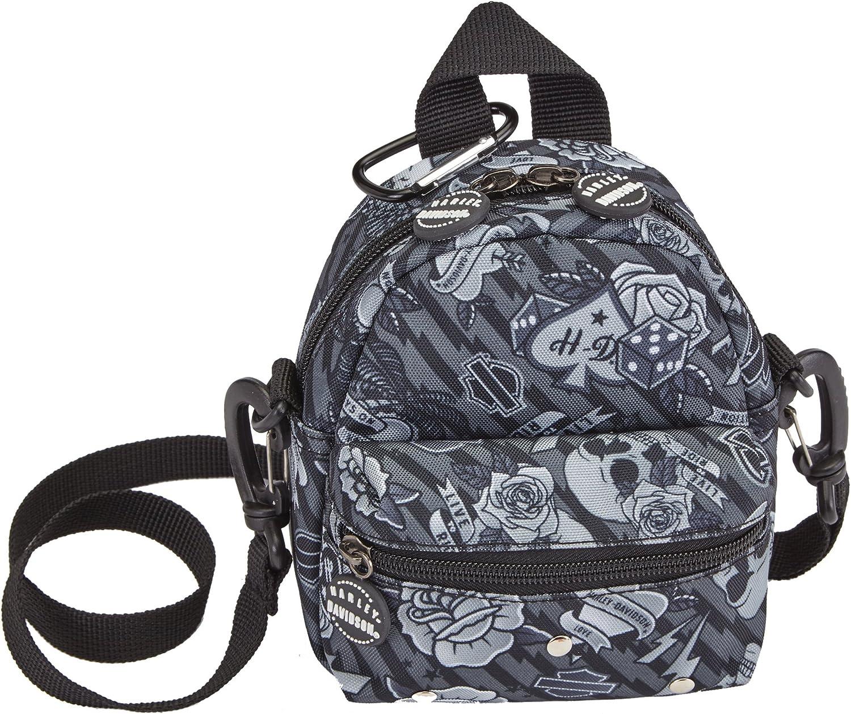 Harley Davidson Mini Me Backpack, Grey Tattoo, One Size 91wItrIfwSL