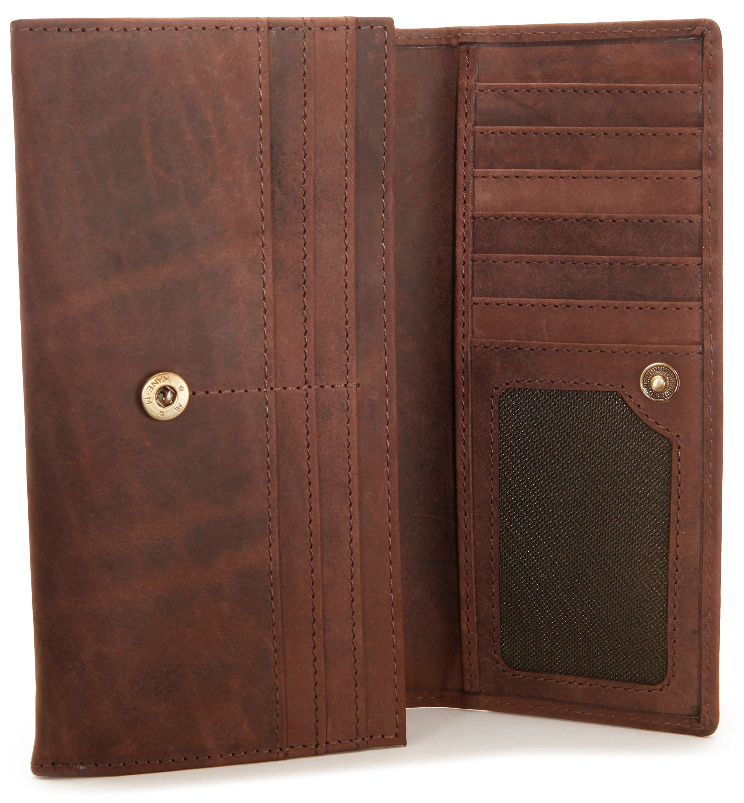 LEABAGS Charlotte genuine buffalo leather women's wallet in vintage style - Nutmeg by LEABAGS (Image #5)