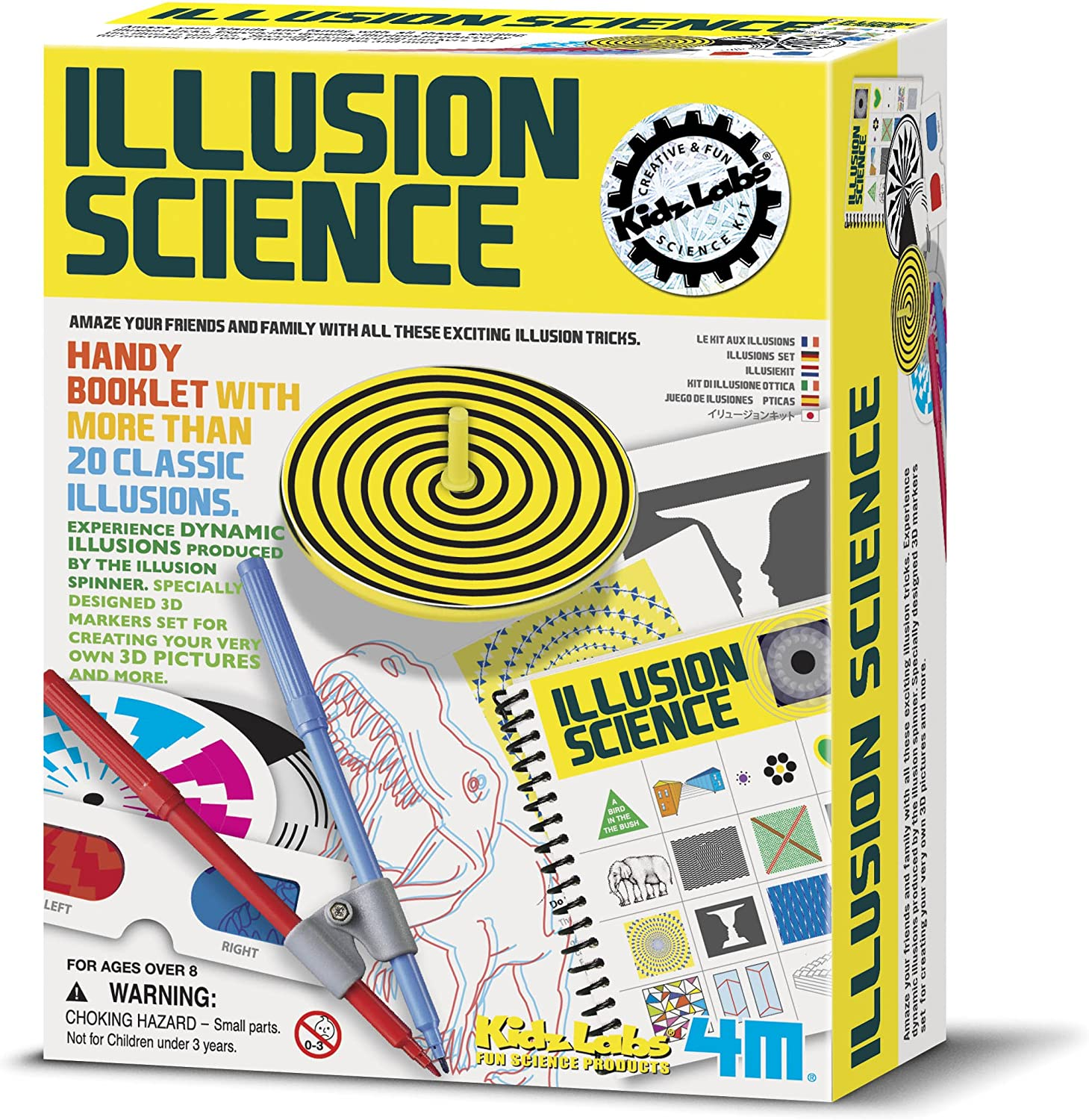 Toys & Hobbies Classic Optical Illusion Toy Kit Science ...
