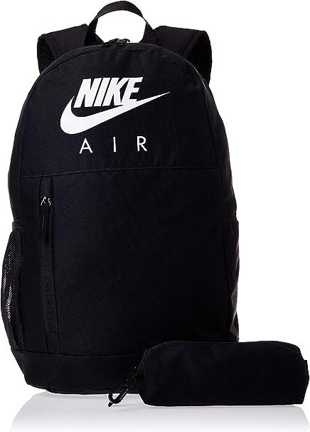 NIKE Y Nk Elmntl Bkpk - Gfx Fa19 Sports Backpack, Unisex niños, Black/Black/(White), MISC: Amazon.es: Deportes y aire libre