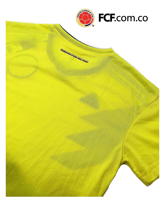 Amazon.com : Replica 2018 Russia FIFA Colombia Soccer Home Jersey for Adults. Camiseta de la seleccion Colombiana de Futbol 2018 : Sports & Outdoors