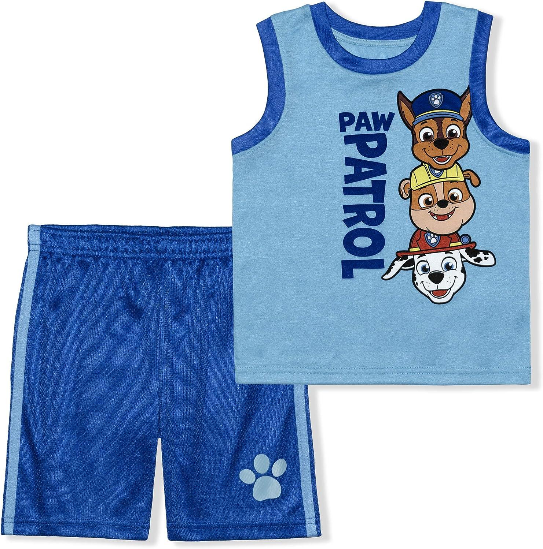 Nickelodeon Paw Patrol 2 Pack Boy's Sleeveless Tee Shirt and...