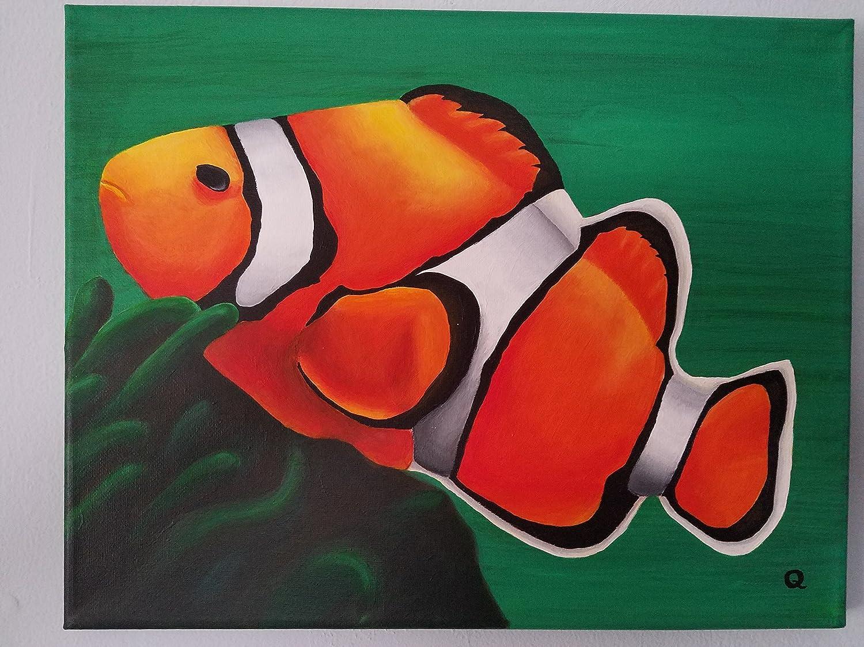 Amazon Com Art Print Clown Fish 11x14 Handmade
