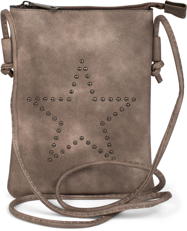 styleBREAKER Mini sacoche avec découpes en forme d'étoile, sac en bandoulière, sac à main, femmes 02012235, couleur:Bleu jeans
