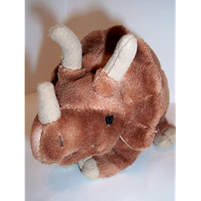 "Mini Styracosaurus 8"" Plush Dinosaur Bean Bag: Toys & Games"