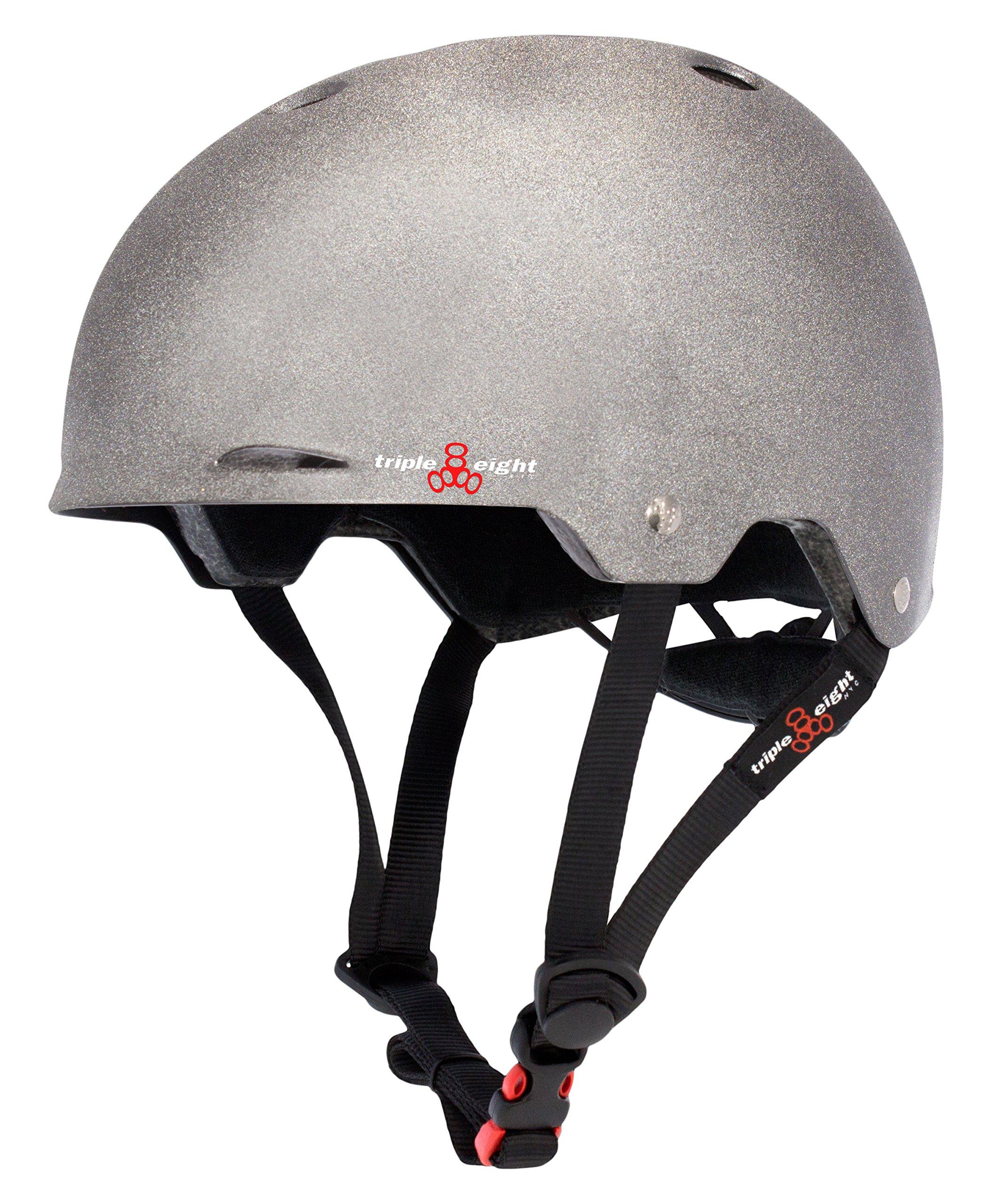 Triple Eight Gotham Helmet, Reflective Darklight, Small/Medium