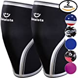 Women's Athletics & Weightlifting Non Slip Compression Knee Sleeves 1 Pair Great Support & Effective Relief from Muscle Pain & Fatigue
