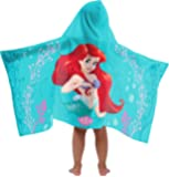 Disney Princess The Little Mermaid Super Soft & Absorbent Kids Hooded Bath/Pool/Beach Towel Featuring Ariel - Fade Resistant Cotton Terry Towel 22.5 Inch x 51 Inch (Official Disney Product)