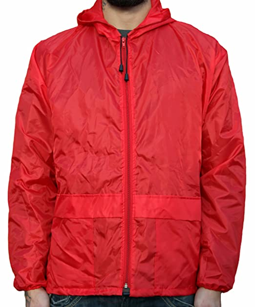 f23be09a362 WWK Mens Ladies Cagoule Kagool New Lightweight Unisex Kagoul Rain Coat  Jacket Mac (Small
