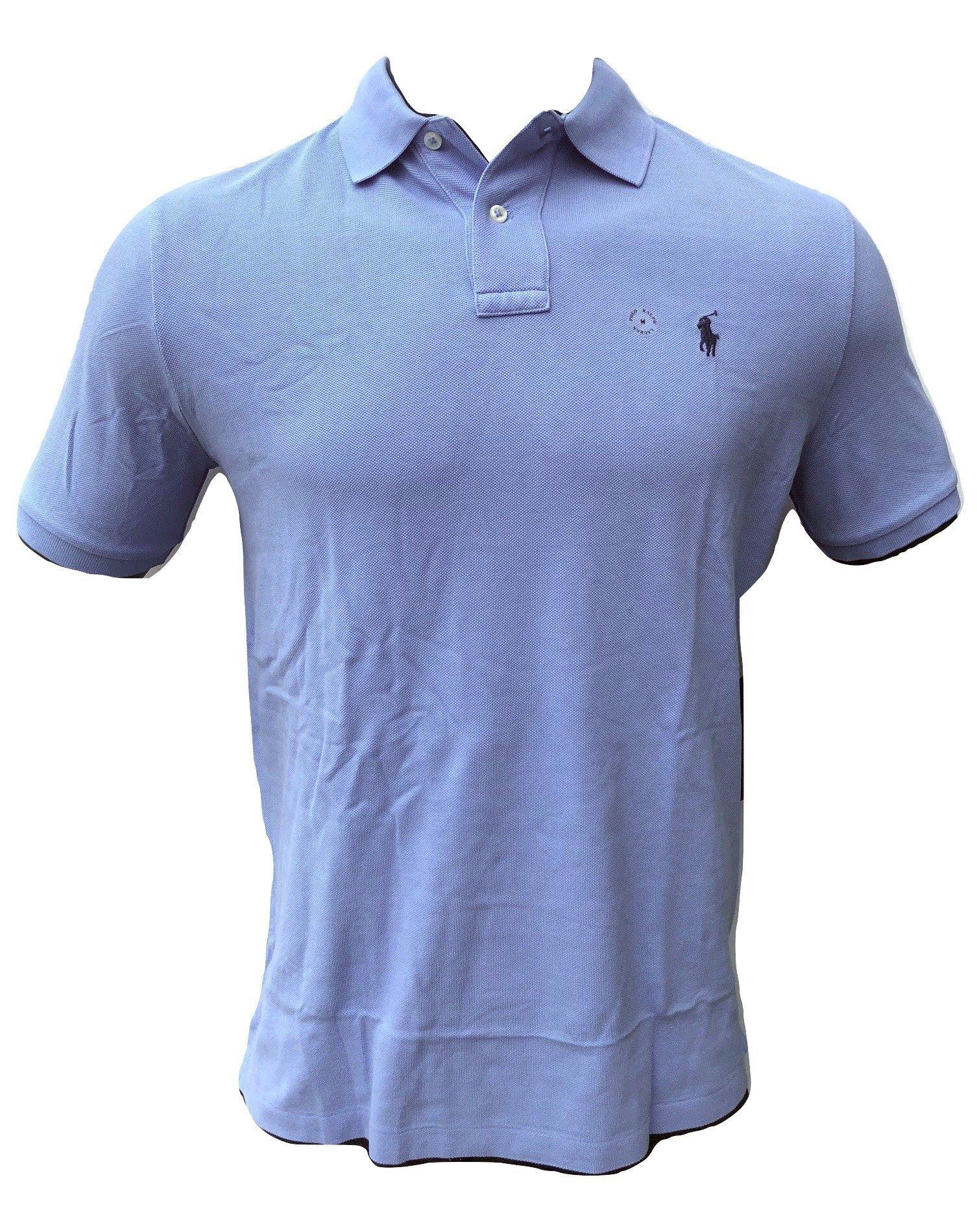Polo Ralph Lauren Mens Classic Fit Mesh Polo Shirt (Blue New Harbour, Medium)