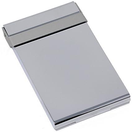 Amazon vertical slim brushed silver metal business card holder vertical slim brushed silver metal business card holder reheart Images