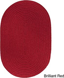 product image for Rhody Rug Venice Indoor/Outdoor Oval Braided Rug (4' x 6') Red