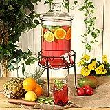 Round Drink Dispenser with Stand 168oz / 4.8ltr by bar@drinkstuff | Beverage Dispenser, Juice Dispenser, Punch Dispenser, Lemonade Dispenser
