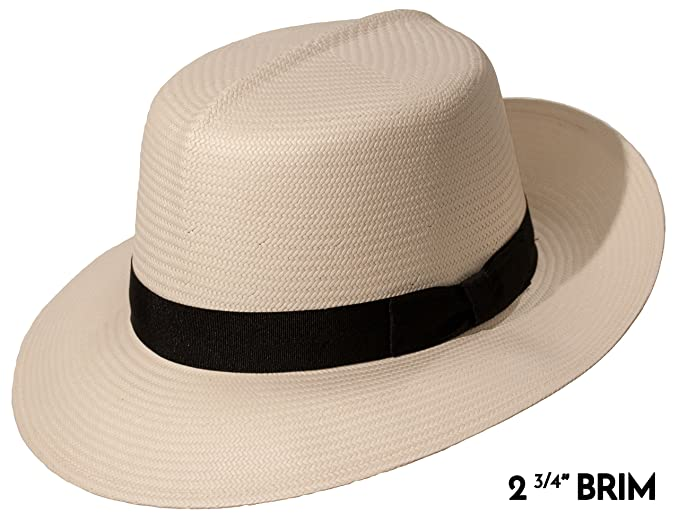 1940s Mens Clothing Casa Blanca Optimo Panama Straw Dress Hat $89.00 AT vintagedancer.com