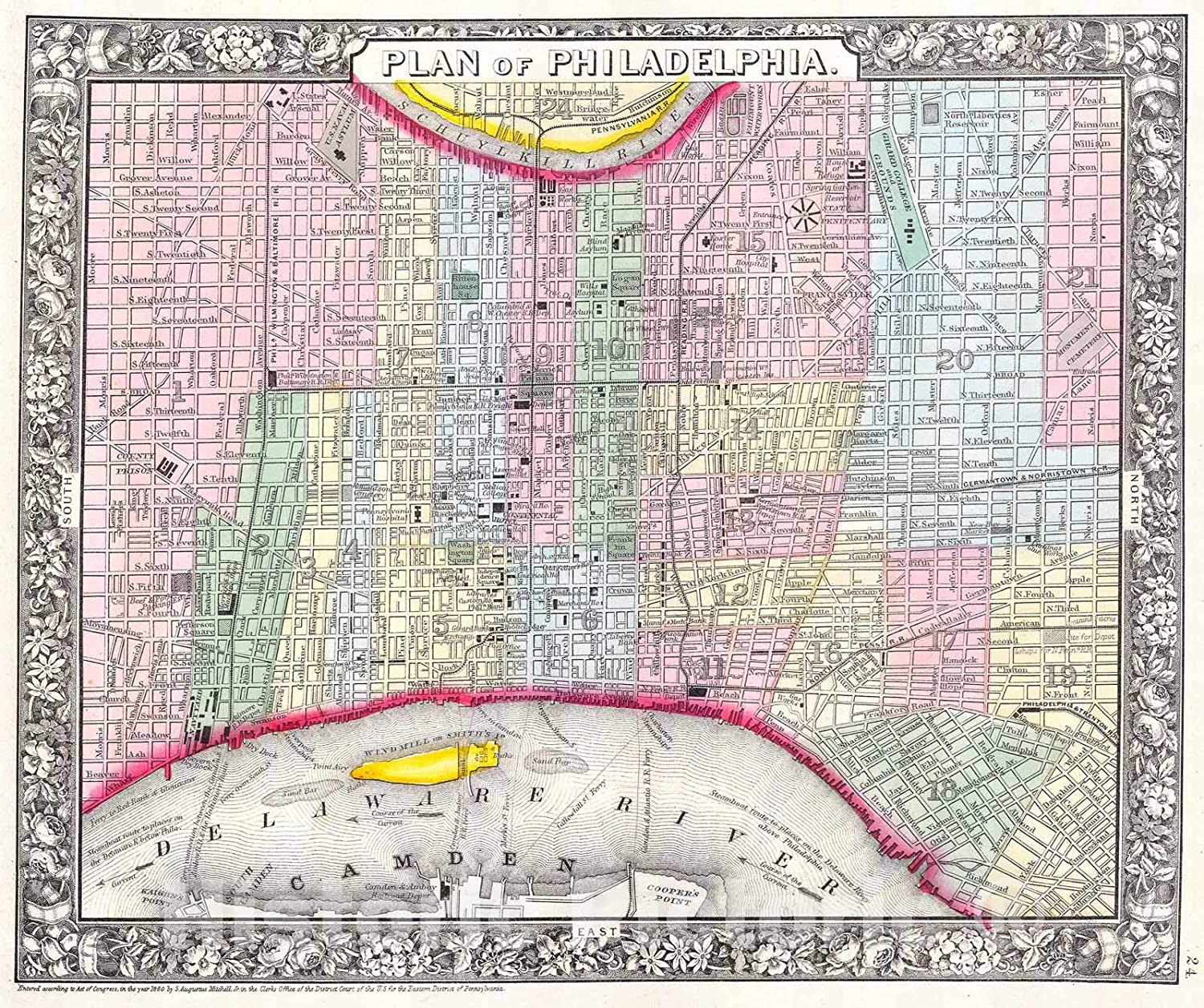 It is a graphic of Printable Map of Philadelphia in germantown map