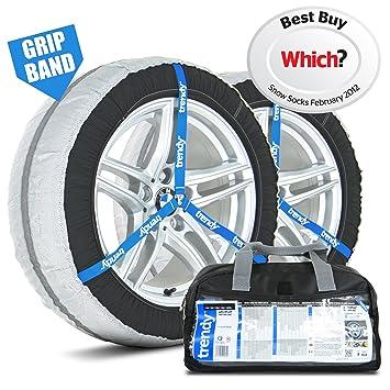 Amazon.es: Fundas de nieve para ruedas, 38 M, ajuste universal para neumáticos 205/55 R15, 205/55 R16, 195/45 R17 y más, marca Trendy