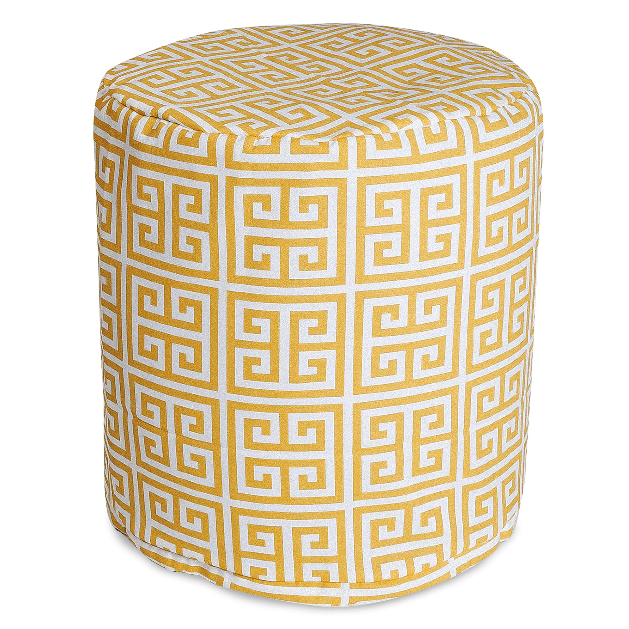 Majestic Home Goods Citrus Towers Indoor/Outdoor Bean Bag Ottoman Pouf 16'' L x 16'' W x 17'' H