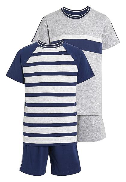 next Niños Pack De Dos Pijamas De Rayas (3-16 Años) Azul Marino