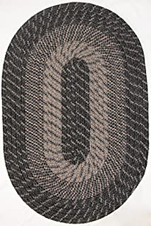"product image for Plymouth Braided Rug in Kona Charcoal (8' x 11' (96"" x 132"") Made in New England"