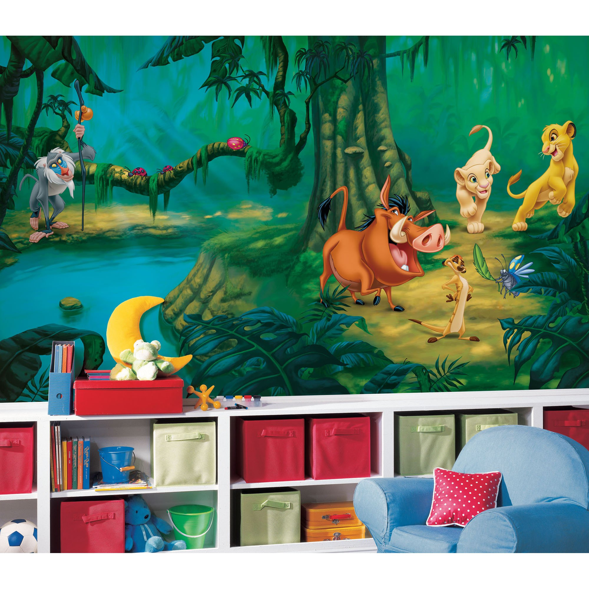 RoomMates Lion King Chair Rail Prepasted, Removable Wall Mural - 6' X 10.5' by RoomMates (Image #2)