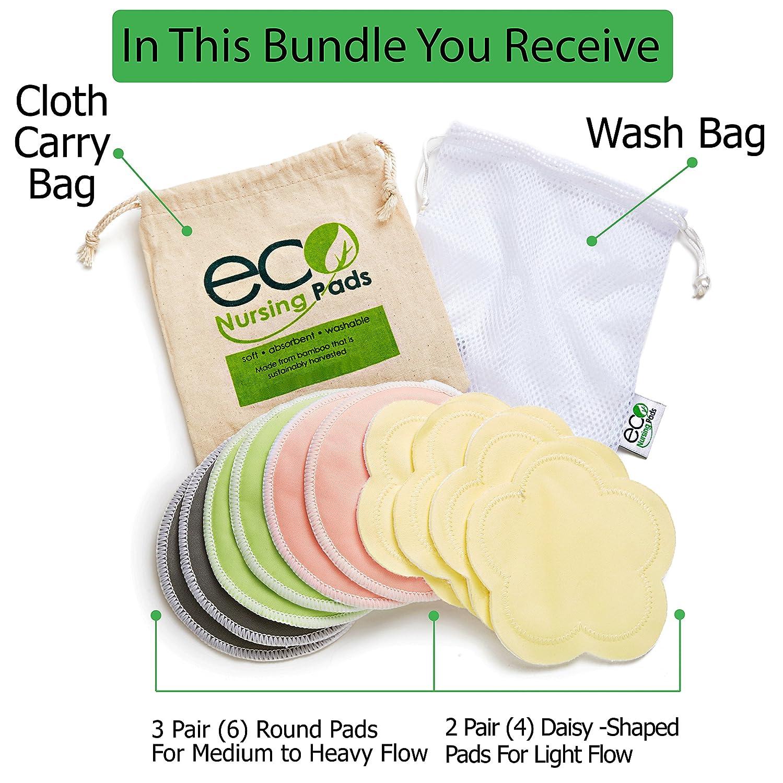 d21c8dd75049a Amazon.com   Washable Reusable Bamboo Nursing Pads