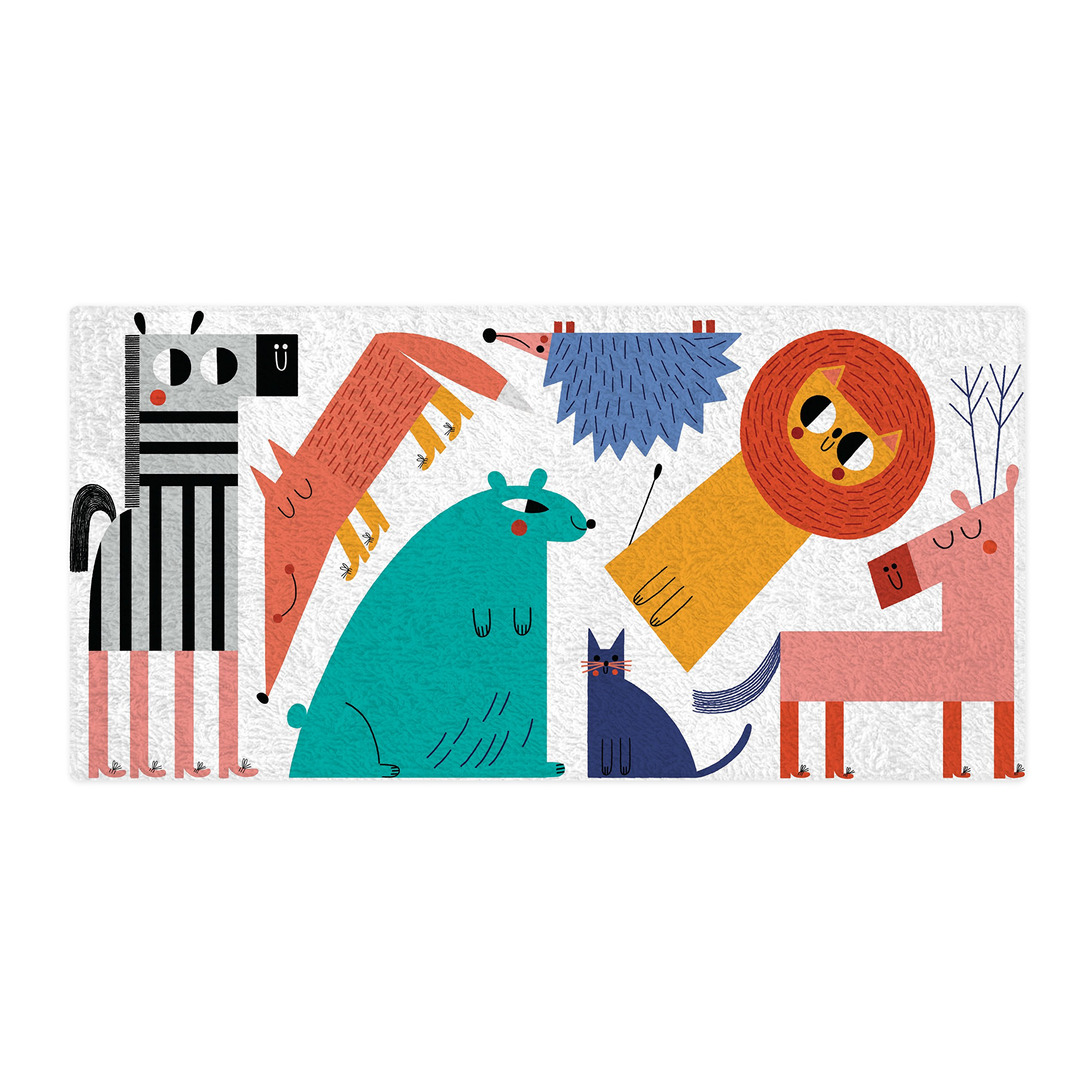 Mouse + Magpie Little Land Animals Bath Towel Premium Quality: Ultra Soft, Cozy and Absorbent, 60x30 for Baby, Toddler & Kids, Use for Bath Time, Beach and Pool, Great Gift