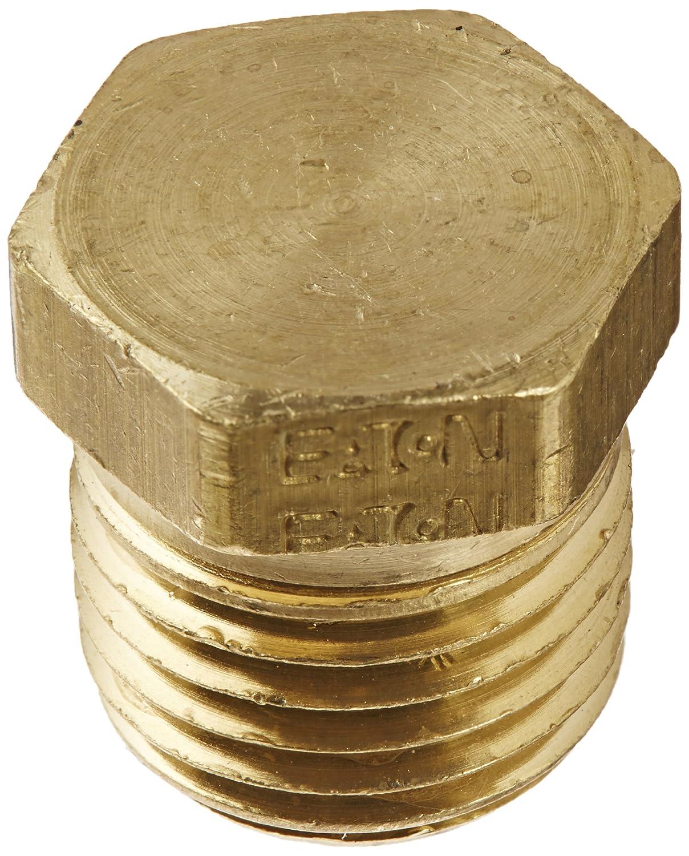 Hex Head Plug Eaton Weatherhead 3152X4 Brass CA360 Fitting 1//4 NPT Male Pack of 5