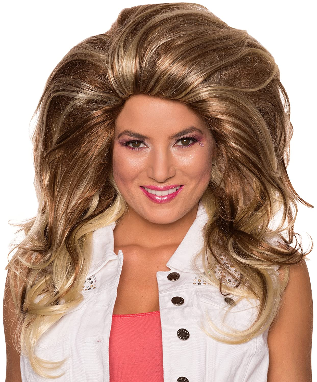 Rubie's Costume Co Women's Helen Wheels Wig Blonde/Brown One Size Rubies Costumes - Apparel 38313