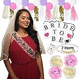 Bachelorette Party Decorations Supplies Pack Bride Veil Sash Tassels Pom Poms