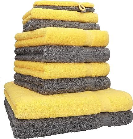 Sans produits chimiques 100 /% coton Certifi/é /Öko-Tex Std 100 Doux et absorbant Lavable en machine Julie Julsen Lot de 4 serviettes de bain et 2 serviettes de bain 600 g//m/²