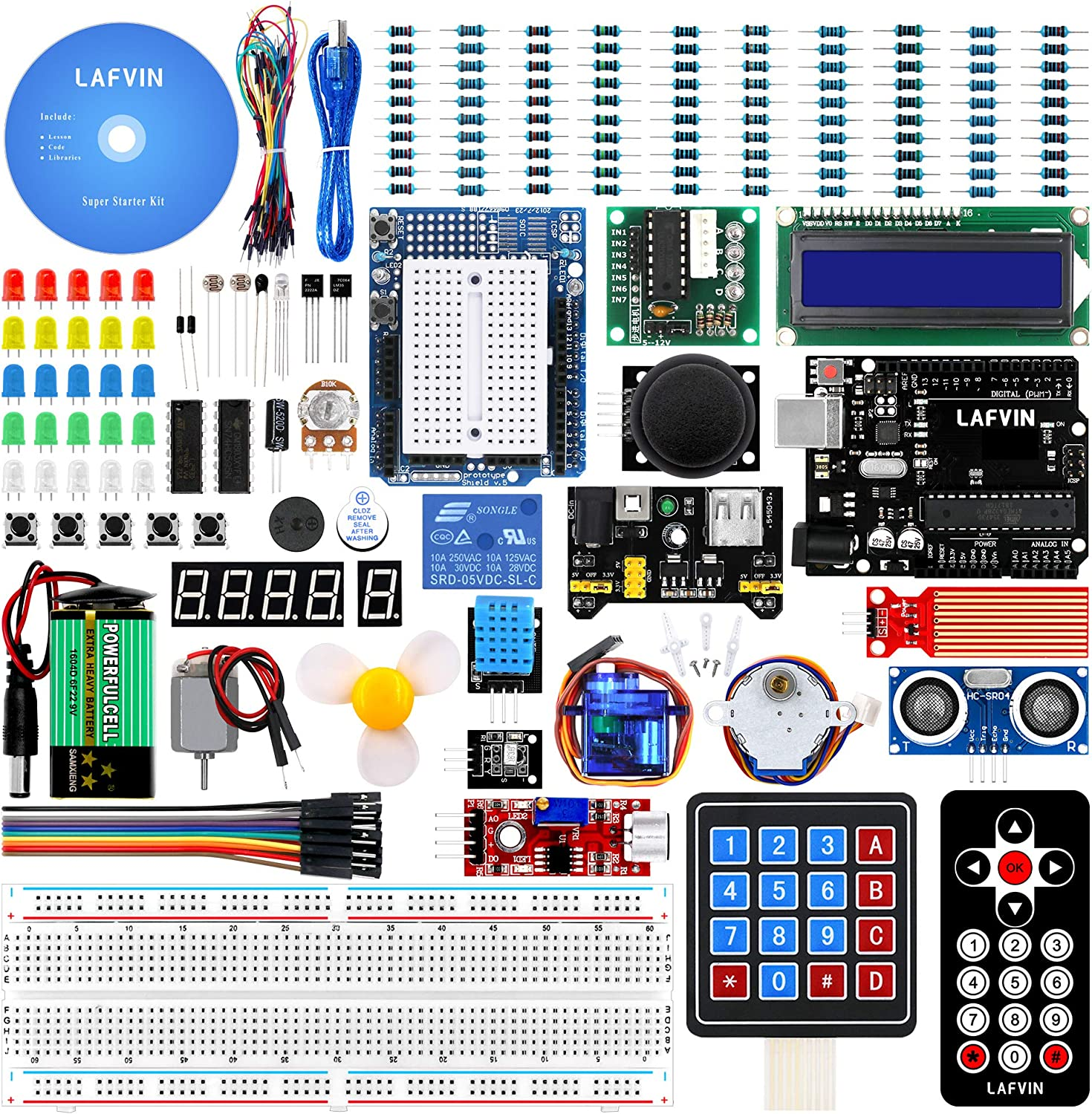 LAFVIN Project Super Starter Kit for R3 Mega2560 Mega328 Nano with Tutorial Compatible with Arduino IDE