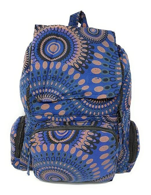 Mochila Hippie Etnica Mujer Chica Mandala Amplia Varios Colores 45 Cm x 30 Cm x 15 Cm Novedad AceMonkey (Azul Claro Etnico): Amazon.es: Equipaje