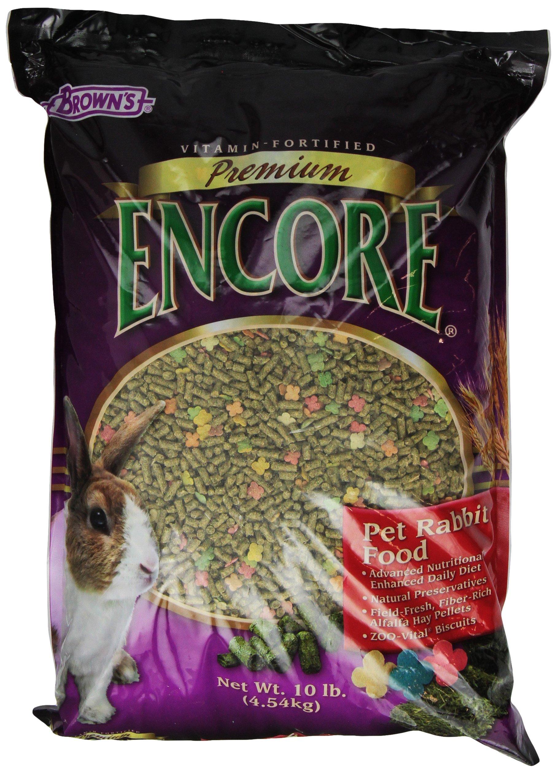 F.M. Brown's Encore Premium Rabbit Pet Food, 10-Pound