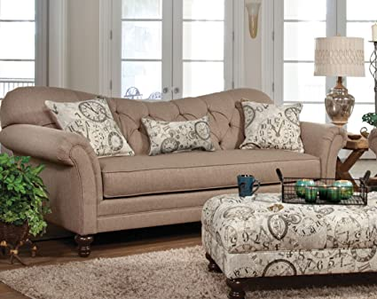 Image of: Safari Style Furniture Throughout Serta Upholstery 8750s 8750s02 Restoration Style Sofa In Abington Safari Amazoncom