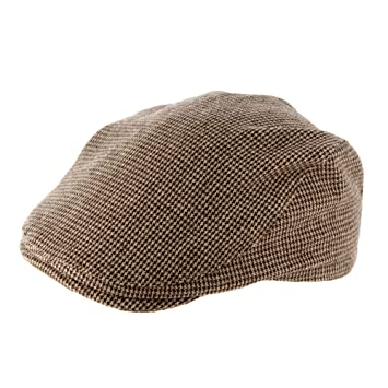 53afe74abc687 J By Jasper Conran Designer Babies Brown Checked Flat Cap  Amazon.co ...