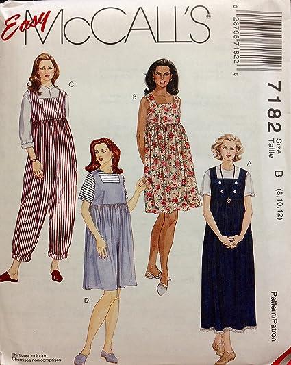 b6ee989f467 Amazon.com  McCall s Sewing Pattern 7182 Maternity Jumper