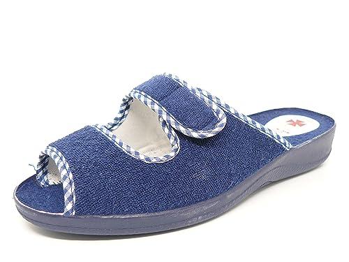 Selquir Zapatilla Mujer Lona RIZO Marca EN Color Azul Marino - 1035: Amazon.es: Zapatos y complementos
