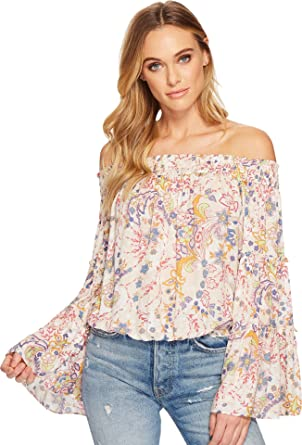 f05a26ae7a2 Free People Women's Free Spirit Printed Top Neutral Small at Amazon Women's  Clothing store: