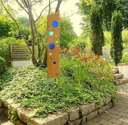 Gartenskulptur Aus Holz Und Glas Amazon De Handmade
