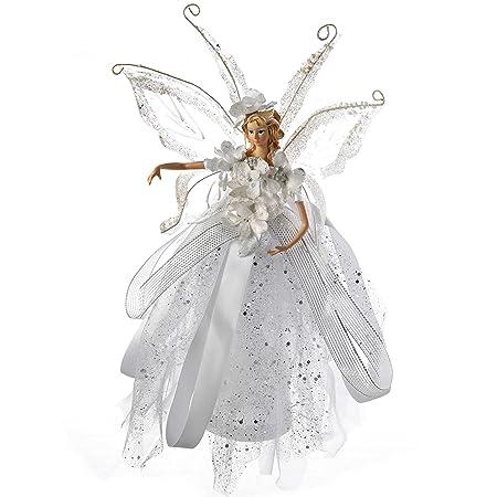 Arbre de Noël haut FAIRY ANGEL GOLD DRESS /& FEATHER WINGS Fairy Tree Topper