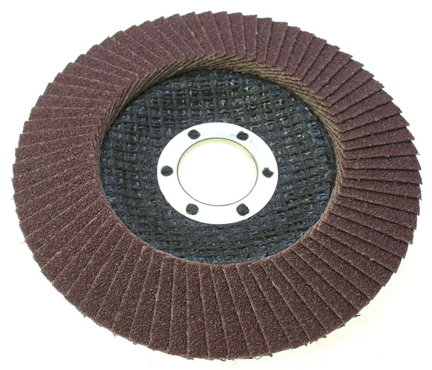 Toolzone 115mm (4-1/2') Angle Grinder Sanding Flap Disc Wheel 80 Grit