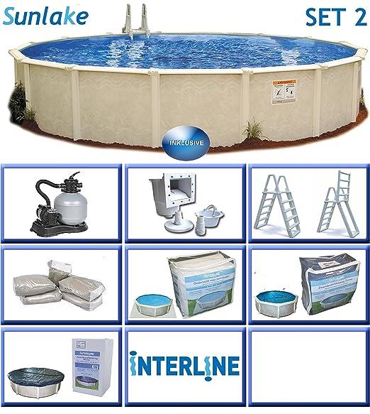 Interline 55000110 redondo Piscina Pool Set 2 sunlake 3, 60 m de ...
