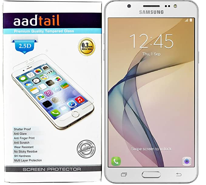 aadtail Tempered Glass Screen Protector for Samsung Galaxy On8 / Samsung Galaxy J7  2016    Transparent Screen guards