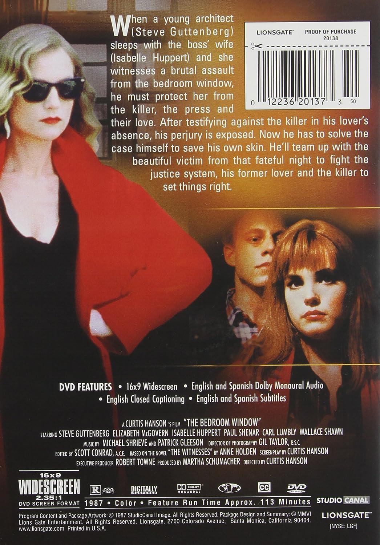 Amazon.com: Bedroom Window [DVD]: Steve Guttenberg, Elizabeth McGovern,  Isabelle Huppert, Paul Shenar, Carl Lumbly, Wallace Shawn, Frederick  Coffin, ...