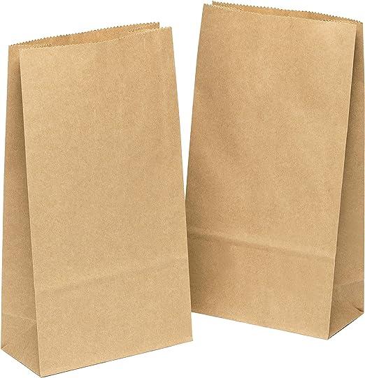 kgpack 100x Bolsas de Papel Kraft DIY 9 x 16 x 5 cm | Bolsas de